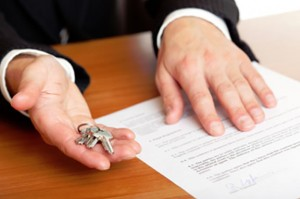 real estate contract and keys